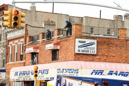 Numerous officers tried to get him down.<br/>