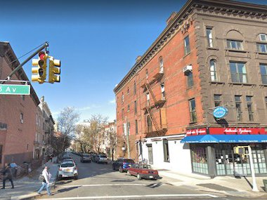 5th Avenue and 6th Street, in Park Slope, Brooklyn, around where last night's boom happened. Via Googlemaps.