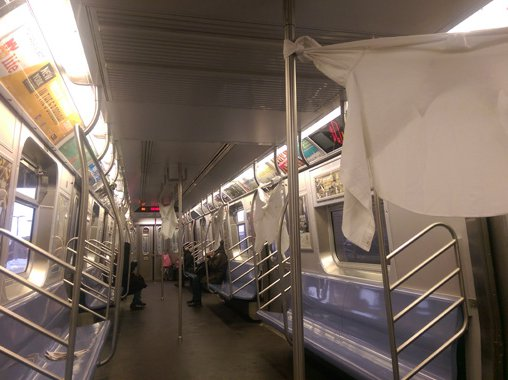 Life Hack: Use Subway Poles To Dry Your Laundry - Gothamist