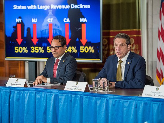 Governor Andrew Cuomo and Comptroller Thomas DiNapoli deliver an update on state revenues and SALT