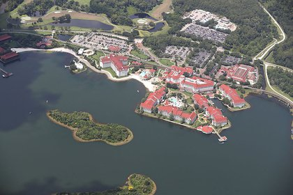 Aerial view of the Grand Floridian and Seven Seas Lagoon on June 15, 2016 (Getty Images)