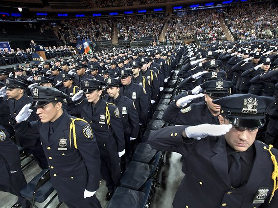 An MTA police graduation ceremony in 2016.