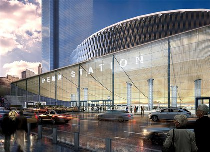 """""""A friendly, negotiated condemnation and removal of the MSG Paramount Theater, creating the opportunity to construct an 8th Avenue grand entrance with concourse, retail and commercial space.""""<br/>"""