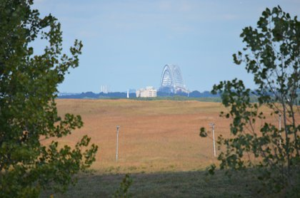 Bayonne Bridge as seen from the South Park area<br/>