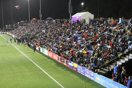 7,211 fans were in attendance, including a number of Cosmos supporters who traveled down for the game.
