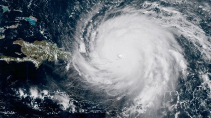 NOAA's GOES satellite shows Hurricane Irma as it makes its way across the Atlantic Ocean in to the Caribbean on September 6, 2017. (Photo by NASA/NOAA GOES Project via Getty Images)