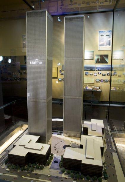 Minoru Yamasaki's model of the towers<br>