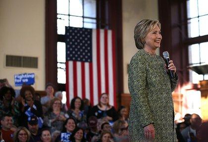 Hillary Clinton in Snug Harbor<br>