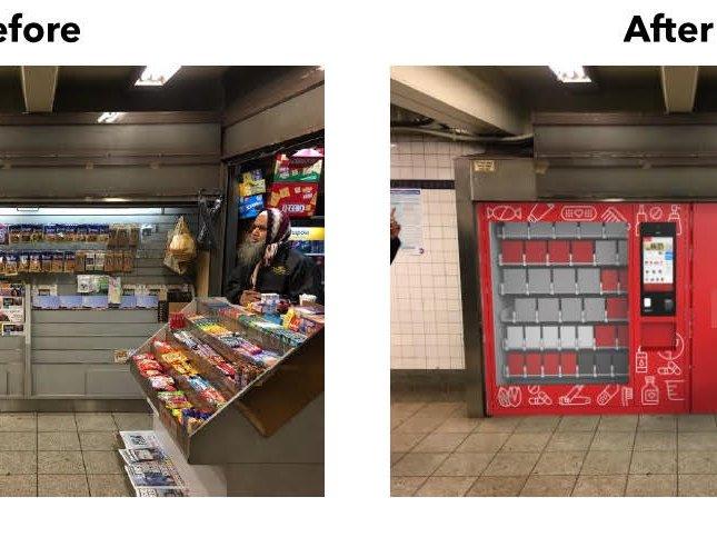 A sleek new inhuman vending machine, coming to a subway mezzanine near you