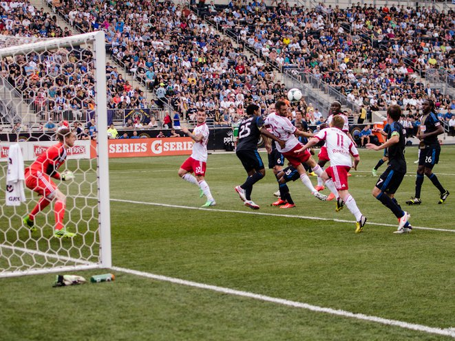 This was as close as the Red Bulls would get to scoring all game.
