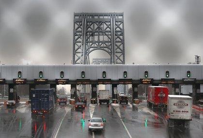Heading on the bridge