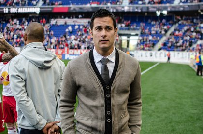 Mike Petke (and his sweater.)