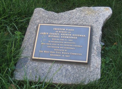 A plaque at Freedom Place<br/>