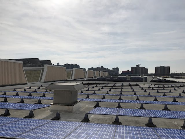 Soon, many of the MTA's rooftops, like this one at the Coney Island Maintenance Facility, will be full of solar panels you can rent.