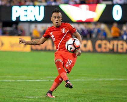 Peru's Christian Cueva misses the final kick of the PK shootout.