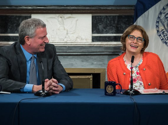 Mayor Bill de Blasio announces Vicki Been will serve as the new Deputy Mayor for Housing and Economic Development. Blue Room, City Hall.