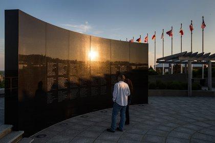 The Flight 800 memorial<br/>
