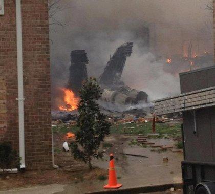 Shortly after the jet crashed