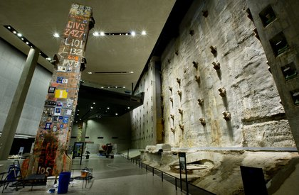 The slurry wall, part of the original WTC foundation<br/>