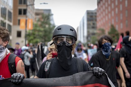 Counterprotesters, including Antifa, outnumbered the white nationalists<br>