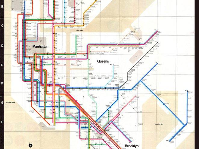 Massimo Vignelli Subway Map Send A Card To Gravely Ill Massimo Vignelli, 1972 Subway Map