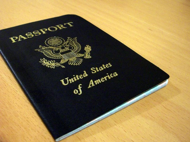 A U.S. passport on a table