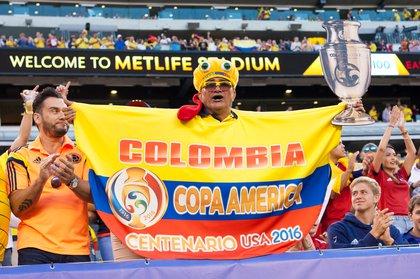 Fans react during pre-match festivities.