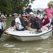 Residents living around the Energy Corridor of west Houston, Texas are rescued from flooded homes and apartments due to high water coming from the Addicks Reservoir after Hurricane Harvey on August 30, 2017 in Houston, Texas<br>(Getty Images)