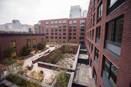 """The view from the studio. """"If you open the window, you can fall asleep to the waterfall,"""" Guzman says. """"Can you image that?"""" A studio with a private terrace is $3,150.<br/>"""