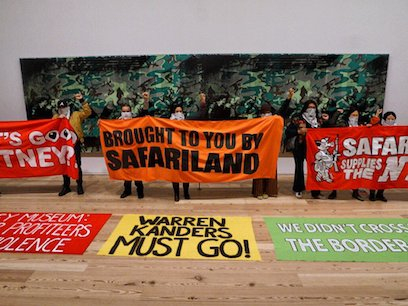 A coalition of activists have been leading demonstrations at the Whitney for weeks now.