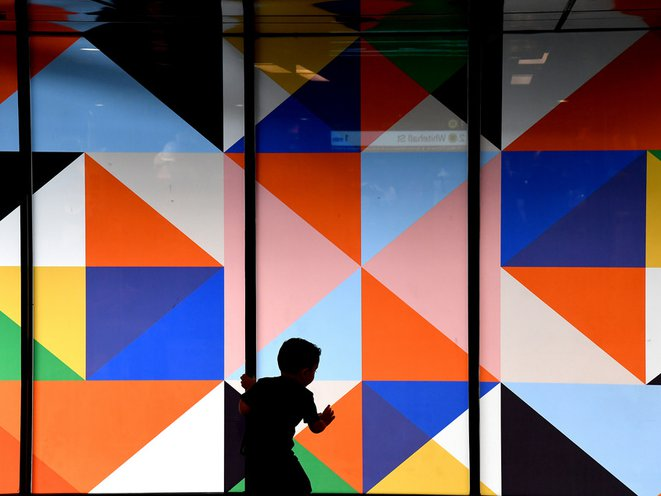 The 36 Ave. station featured art from Stephen Westfall<br>(Marc A. Hermann / MTA New York City Transit)