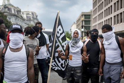 Counterprotesters, including Black Lives Matter, outnumbered the white nationalists<br>