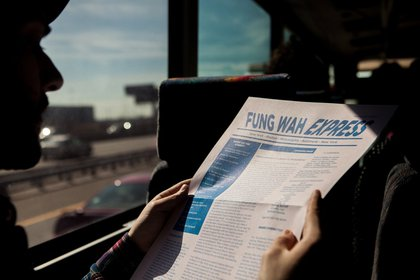 Magali Duzant's 'Fung Wah Express' newspaper provides all the art-trip news that's fit to be printed, read, shared, passed on, annotated.</br>
