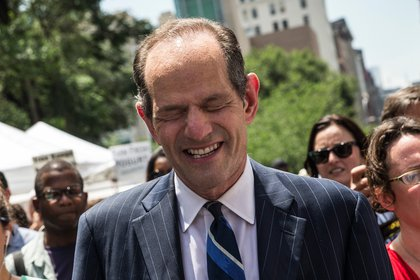 "Spitzer <a href=""http://gothamist.com/2013/07/08/spitzer_heckled_at_first_petitionin.php"">on July 8, 2012</a>, the day after he announced he was running for NYC Comptroller. <br/>"