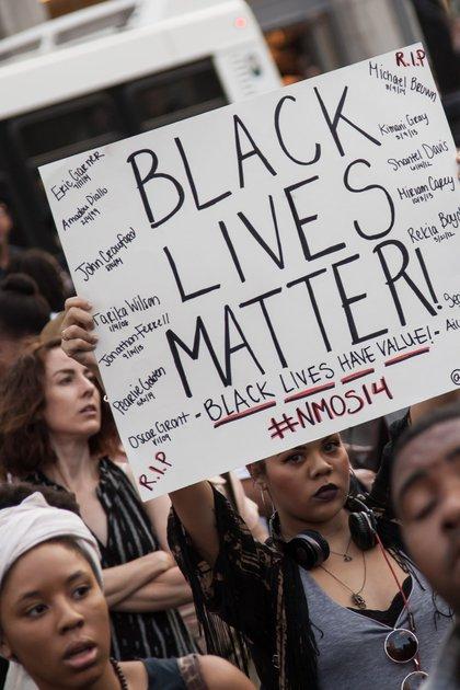 At the Union Square vigil (Jennifer Messina)