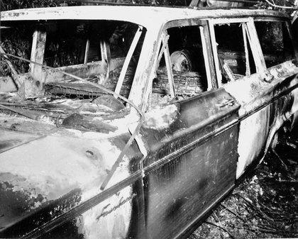 FBI evidence of their burned car<br/>
