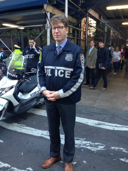 Hipster Cop comes out as a Republican. (Marc Yearsley/Gothamist)