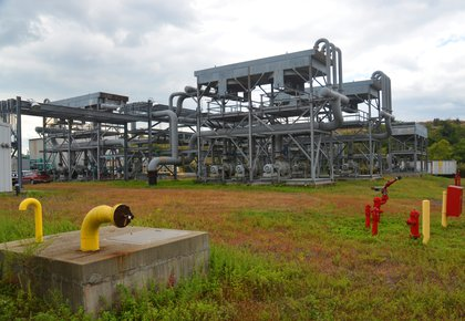 Gas purification plant at Freshkills Park<br/>