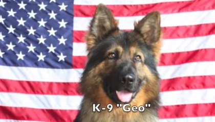 """Geo"" named In Memory of Staff Sergeant Jorge M. Oliveira of the U.S. Army 2nd Battalion, 113th Infantry Regiment, 50th Brigade Combat Team."