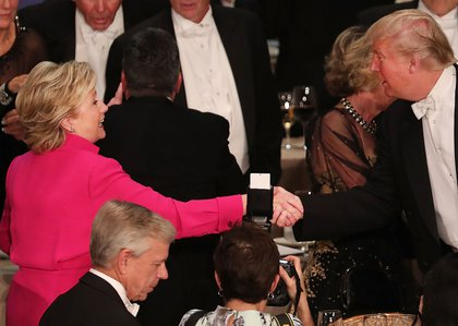 """""""Here Hillary, Putin gave me this ricin to share! By the way, it's the best ricin, really tremendous.""""<br/>"""