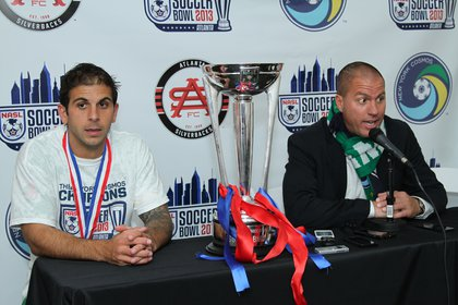 Captain Carlos Mendes and coach Giovanni Savarese speak to the media after the match.