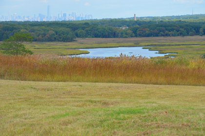 View from the North Park area of Freshkills Park<br/>