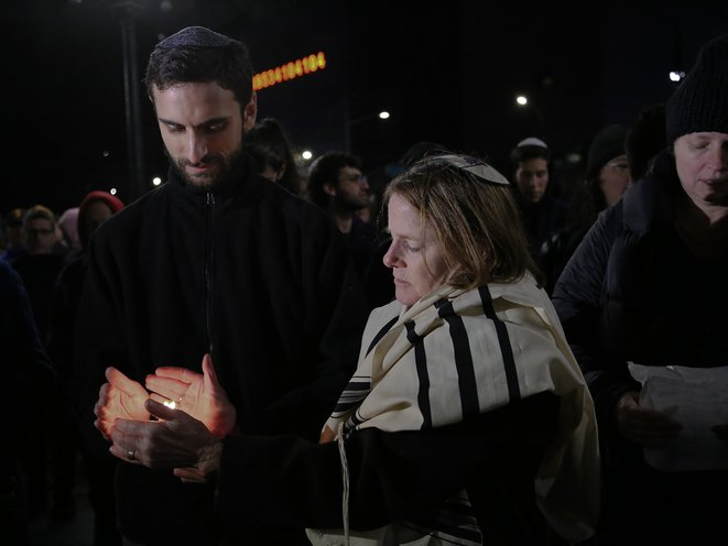 "At the vigil in Union Square, New York (<a href=""http://jaclynjeffreywilensky.com"">Jaclyn Jeffrey-Wilensky</a> / Gothamist)"
