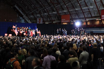 The crowd at the Armory
