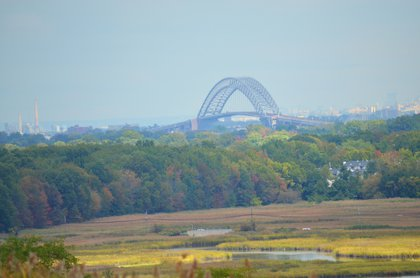 Bayonne Bridge as seen from the North Park area<br/>