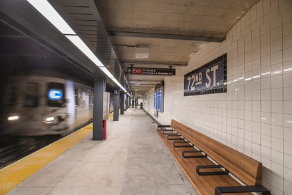 Check out the new lighting on the ceiling! (MTA Photos)