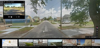You can see New Orleans' Ninth Ward change<br/>
