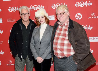 With John Slattery and Christina Hendricks at Sundance on January 17, 2014 (Getty Images)