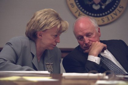 "From FRONTLINE: ""Cheney's wife, Lynne, was brought to the White House and taken to the President's Emergency Operations Center (PEOC), a secure basement room, with the vice president.""<br/>"