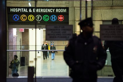 At Bellevue Hospital (Getty Images)